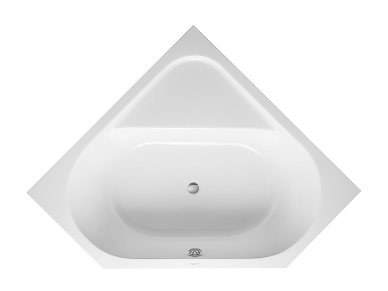 Built-in corner bathtub D-CODE | Built-in bathtub by Duravit