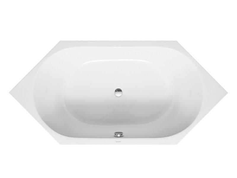 Built-in hexagonal bathtub D-CODE   Built-in bathtub - DURAVIT