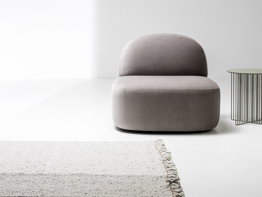 Upholstered fabric armchair GUEST | Armchair by La Cividina