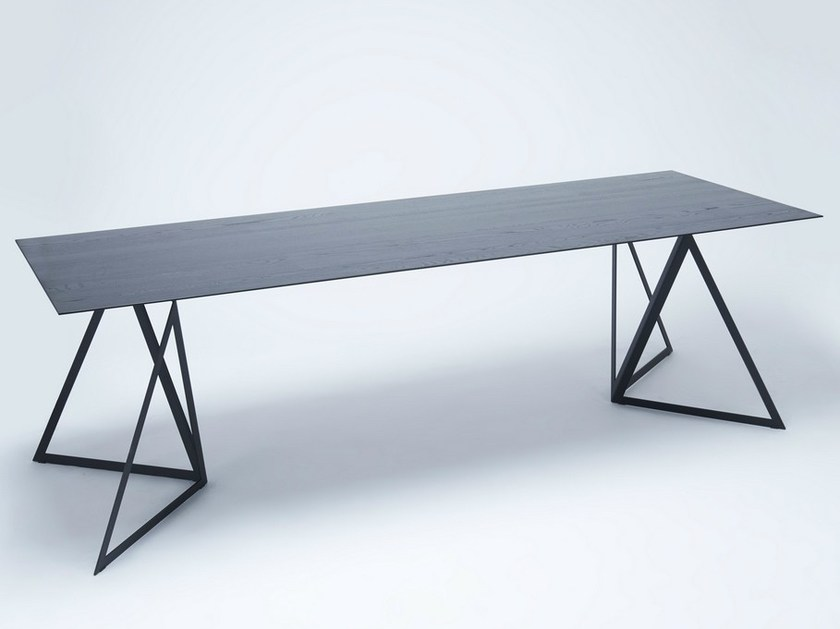 Lacquered rectangular table STEEL STAND TABLE | Lacquered table - NEO/CRAFT