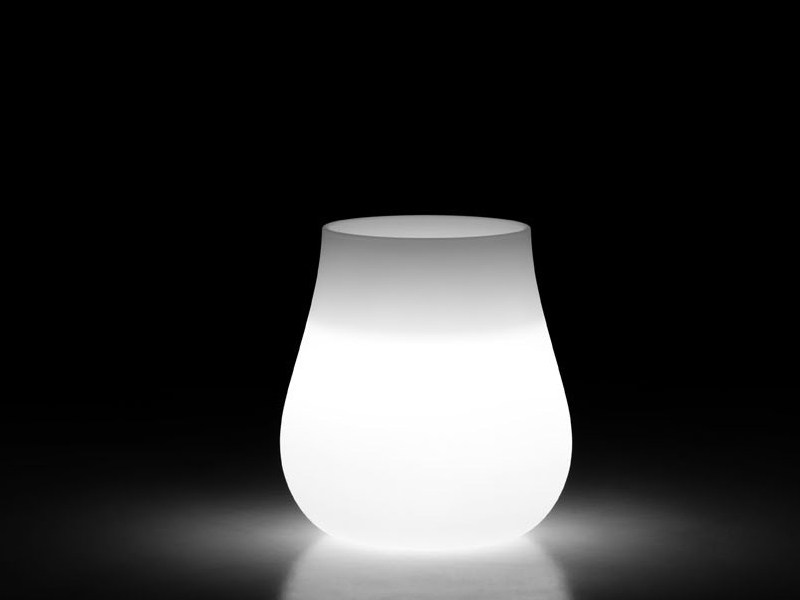 Polyethylene vase with Light DROP LIGHT - PLUST Collection by euro3plast