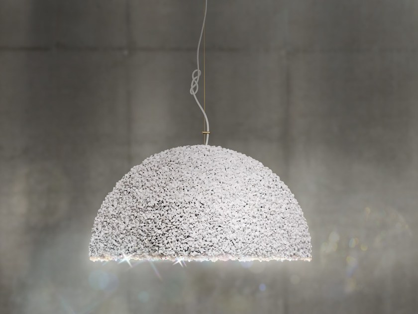 Pendant lamp with Swarovski® Crystals THE DUCHESS MEDIUM WHITE - Mammalampa