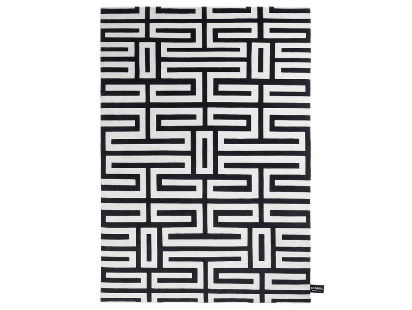 Rectangular rug with geometric shapes MAZE - cc-tapis ®