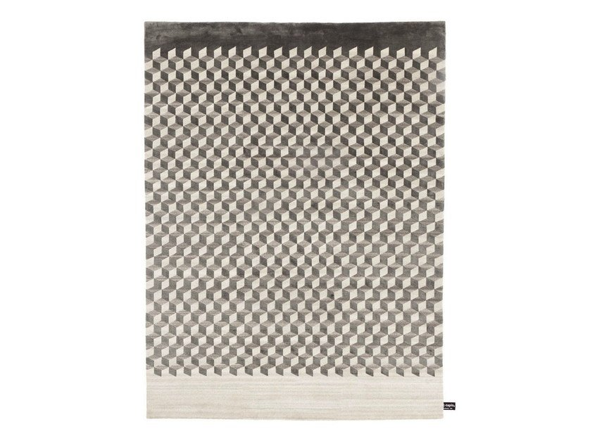 Rectangular rug with geometric shapes MINI INFINI SOIE - cc-tapis ®