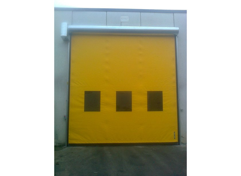 Rapid vertical roll-up door Porte autoriparanti avvolgimento rapido - Armo