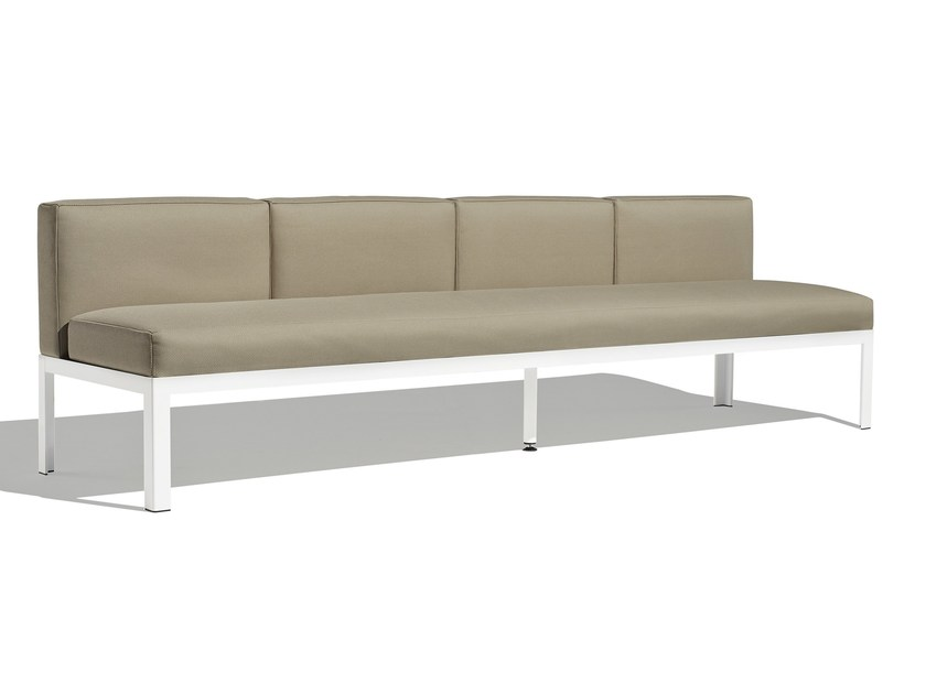 Sectional fabric garden sofa NAK 70 | 4 seater sofa - Bivaq