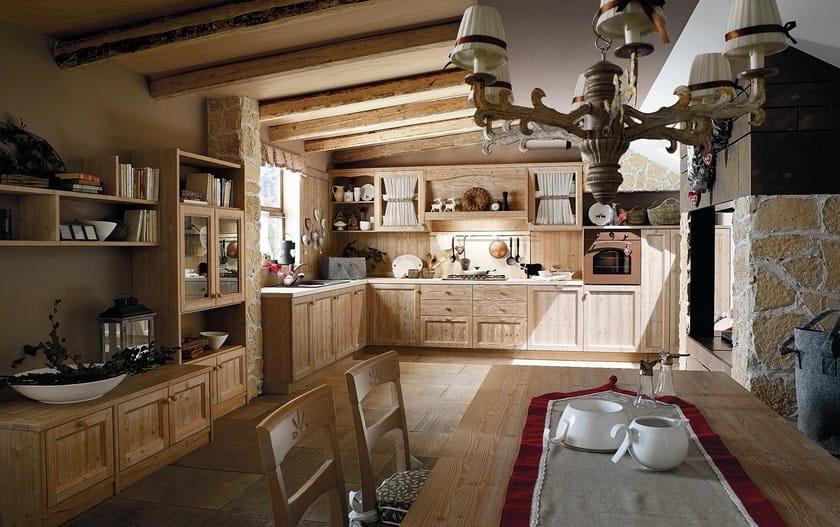Parete attrezzata in legno con porta tv every day parete for Arredamento in legno