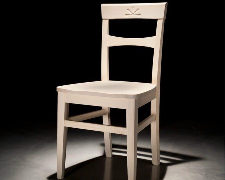 Wooden chair FIORE by Callesella Arredamenti