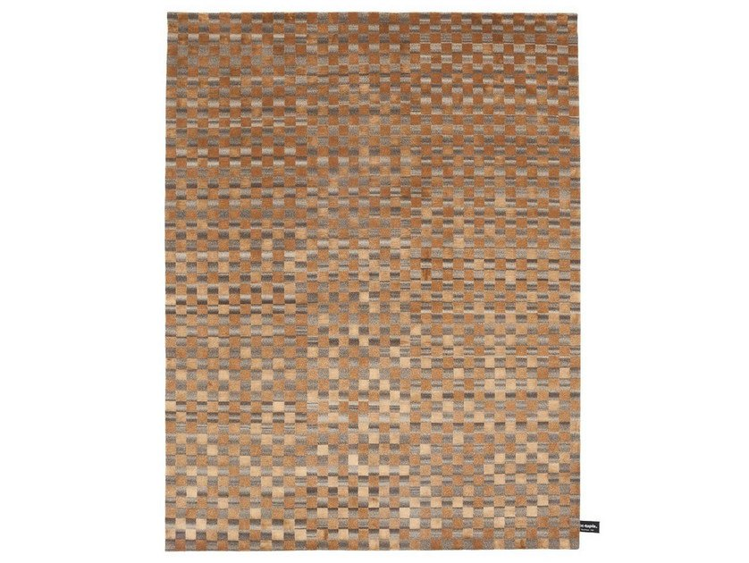 Rectangular rug with geometric shapes DAMIER 2.0 DARK - cc-tapis ®