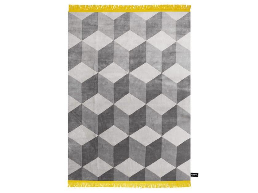 Rectangular rug with geometric shapes INFINI - cc-tapis ®