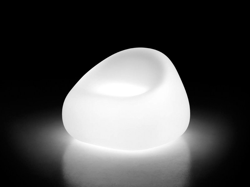 Polyethylene armchair with light GUMBALL ARMCHAIR LIGHT by Plust