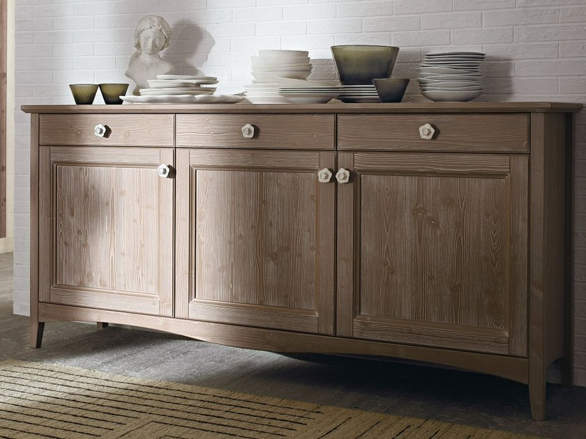 Wooden sideboard with doors EVERY DAY | Sideboard - Callesella Arredamenti S.r.l.