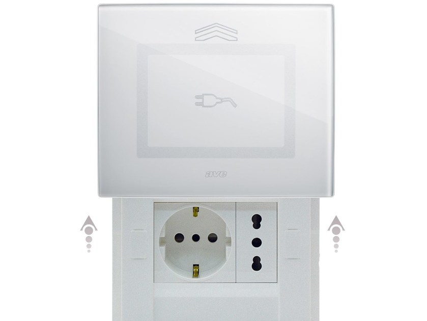 Glass electrical outlet DOMUS TOUCH | Electrical outlet - AVE