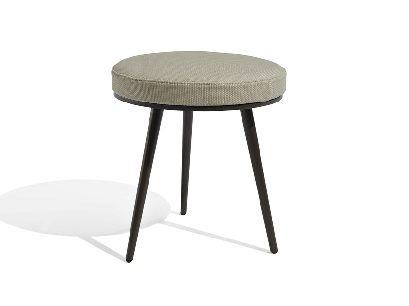 Low upholstered fabric garden stool VINT | Stool - Bivaq