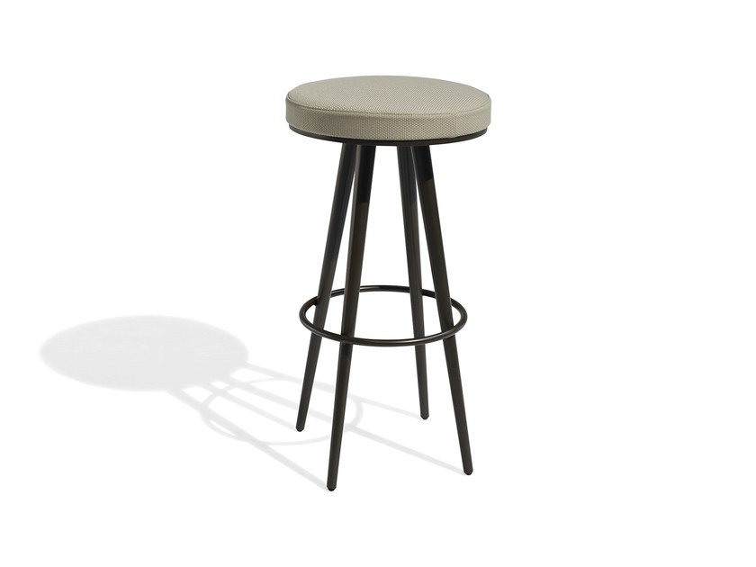 High fabric garden stool with footrest VINT | High stool - Bivaq