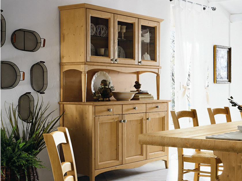 Wooden highboard with drawers EVERY DAY | Wooden highboard - Callesella Arredamenti S.r.l.