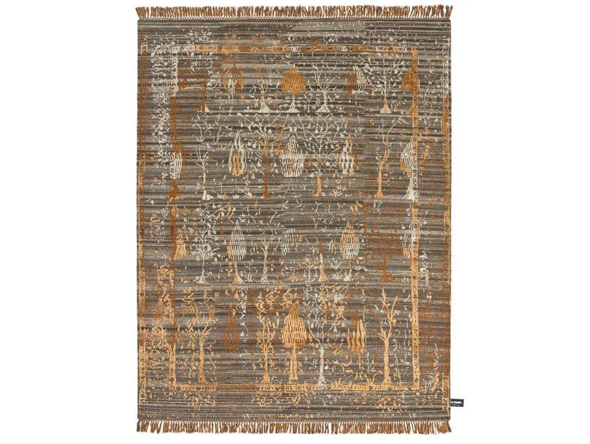 Handmade custom rug TRACES DE JARDIN by cc-tapis ®