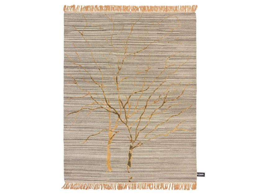 Patterned rectangular rug TRACES DE DOUBLE ARBRE DE VIE - cc-tapis ®