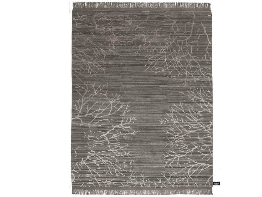 Patterned rectangular rug Traces de forêt - cc-tapis ®