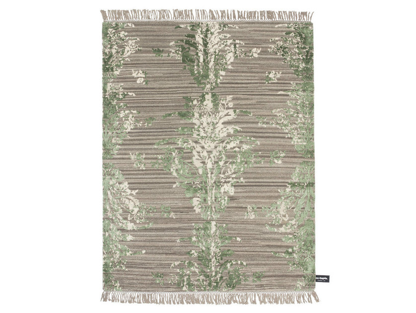 Patterned rectangular rug TRACES DE DAMASK by cc-tapis ®