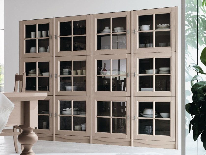 Wooden display cabinet EVERY DAY | Display cabinet - Callesella Arredamenti S.r.l.