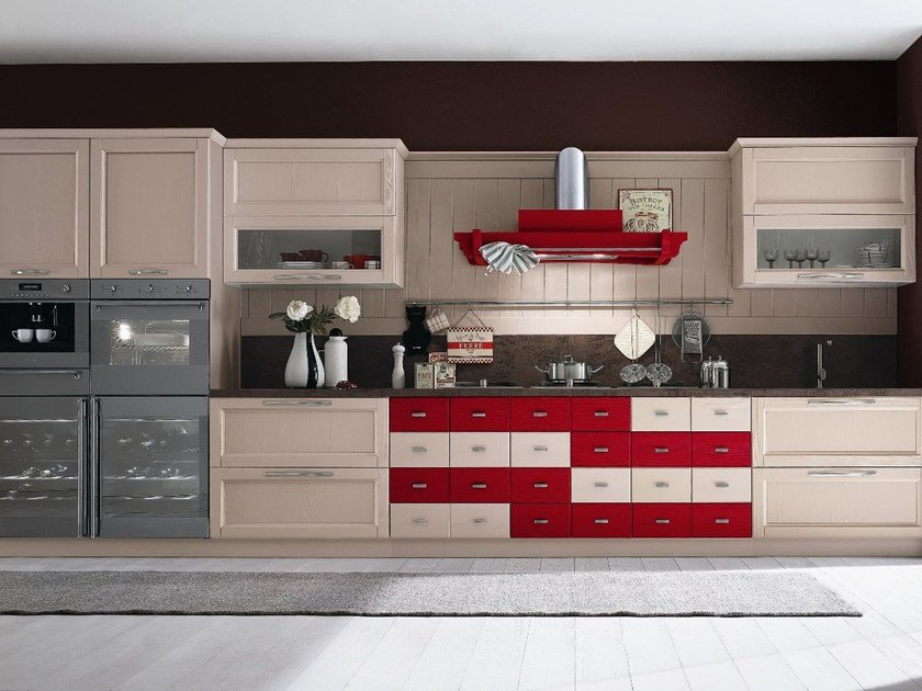 Linear wooden kitchen EVERY DAY | Wooden kitchen by Callesella Arredamenti