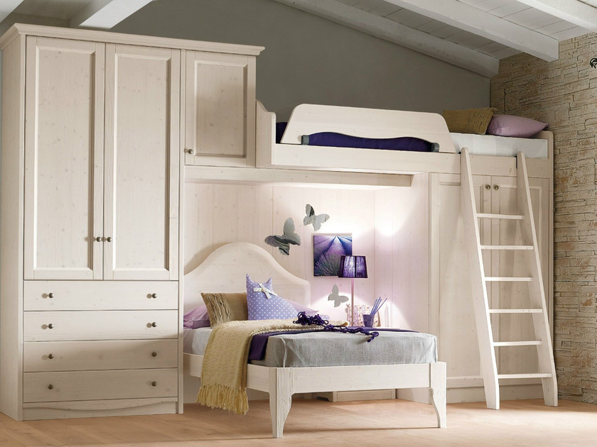 Loft wooden bedroom set EVERY DAY NIGHT | Composition 02 - Callesella Arredamenti S.r.l.