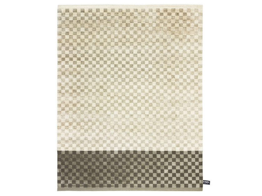 Rectangular rug with geometric shapes DIPPED DAMIER - cc-tapis ®