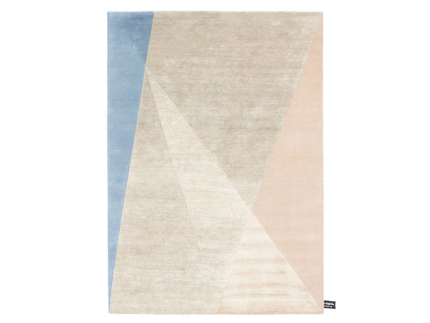 Rectangular rug with geometric shapes DIPPED ANGLE - cc-tapis ®