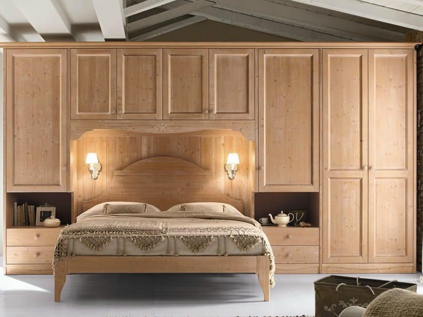 Camera da letto in legno in stile country every day night composizione 06 callesella arredamenti - Camera letto country ...