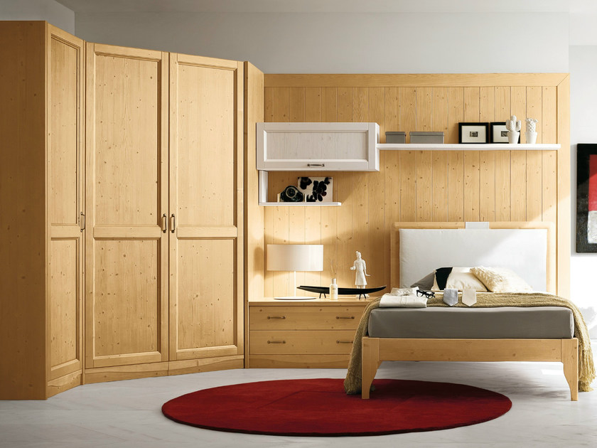 Wooden bedroom set EVERY DAY NIGHT | Composition 10 - Callesella Arredamenti S.r.l.