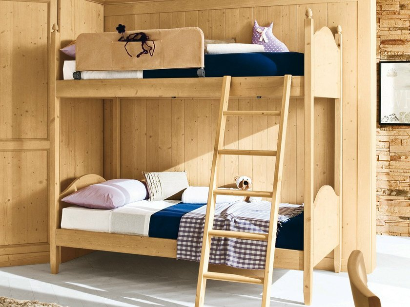 Wooden bunk bed EVERY DAY NIGHT | Composition 08 - Callesella Arredamenti S.r.l.