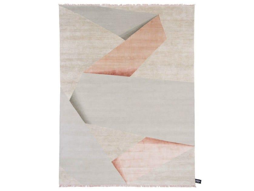 Rectangular rug with geometric shapes RIBBON - cc-tapis ®