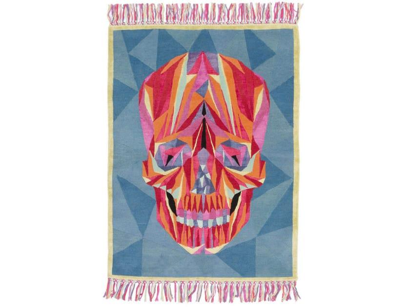 Handmade rectangular rug DEATH ON THE DANCEFLOOR - cc-tapis ®