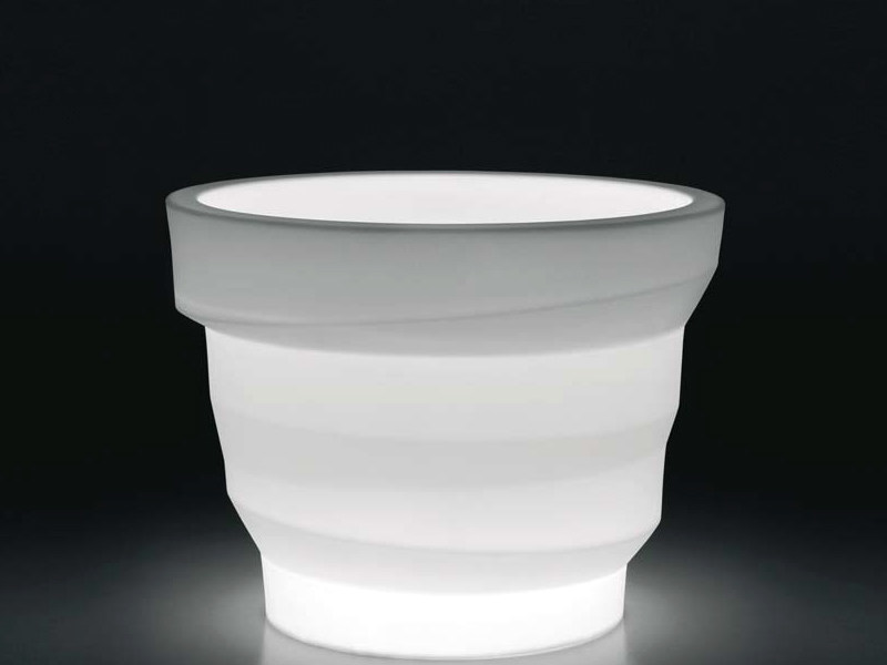 Polyethylene vase with Light REBELOT LIGHT - PLUST Collection by euro3plast