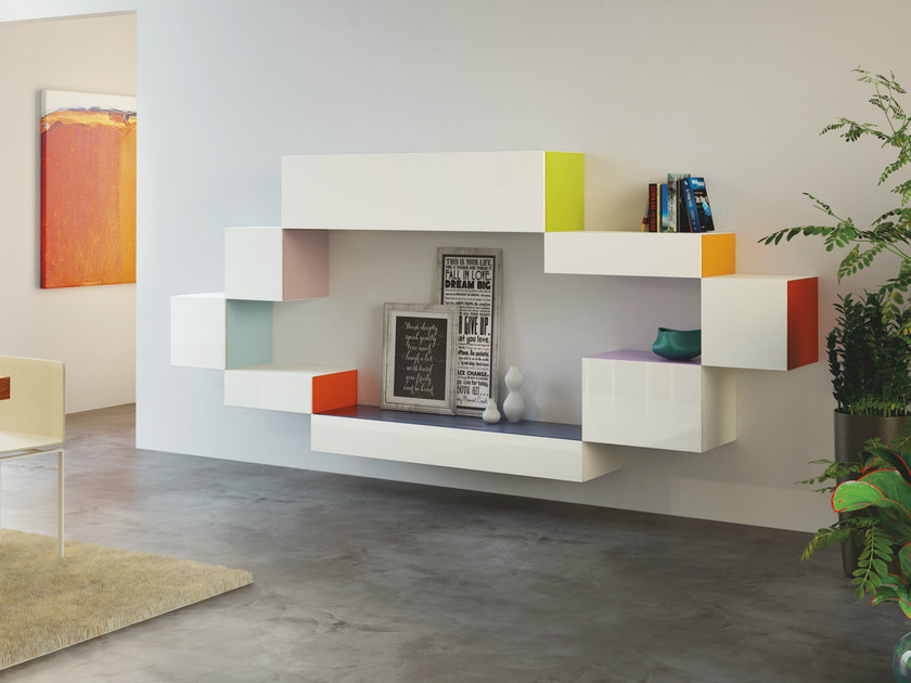 Modular storage wall 36e8 SIDE - Lago