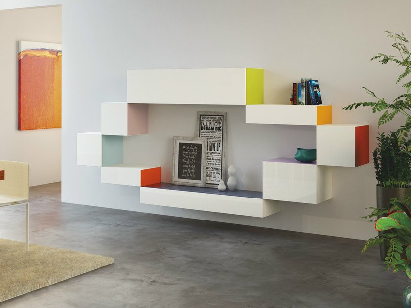 Modular storage wall 36e8 SIDE by Lago