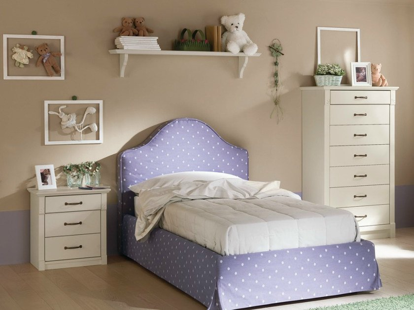 Wooden bedroom set for girls ROMANTIC | Composition 03 - Callesella Arredamenti S.r.l.