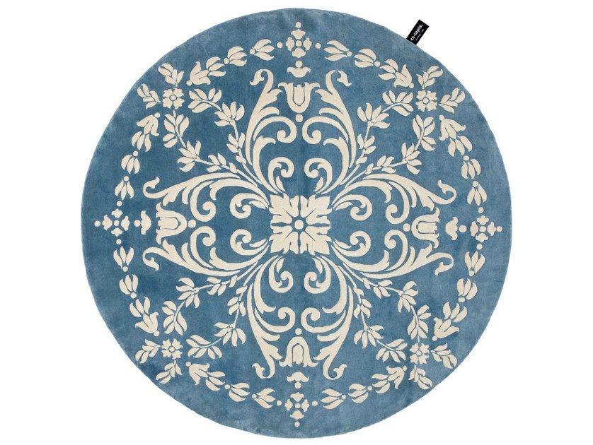 Patterned round rug WOODWEDGE - cc-tapis ®