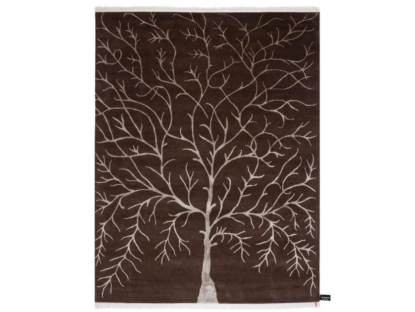 Patterned rectangular rug ARBRE DE VIE - cc-tapis ®
