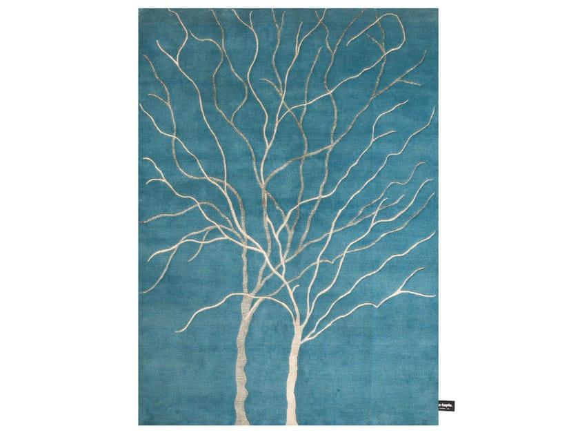 Patterned rectangular rug DOUBLE ARBRE DE VIE - cc-tapis ®
