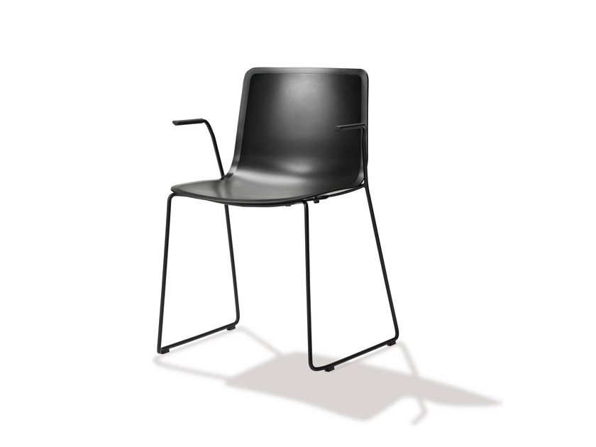 Sled base chair with armrests PATO SLEDGE ARMCHAIR | Chair - FREDERICIA FURNITURE