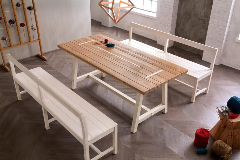 Panca in legno con schienale panca callesella arredamenti for Panca per cucina