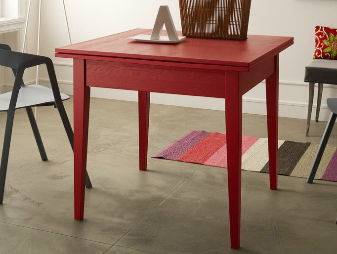 Extending square wooden table Square table by Callesella Arredamenti