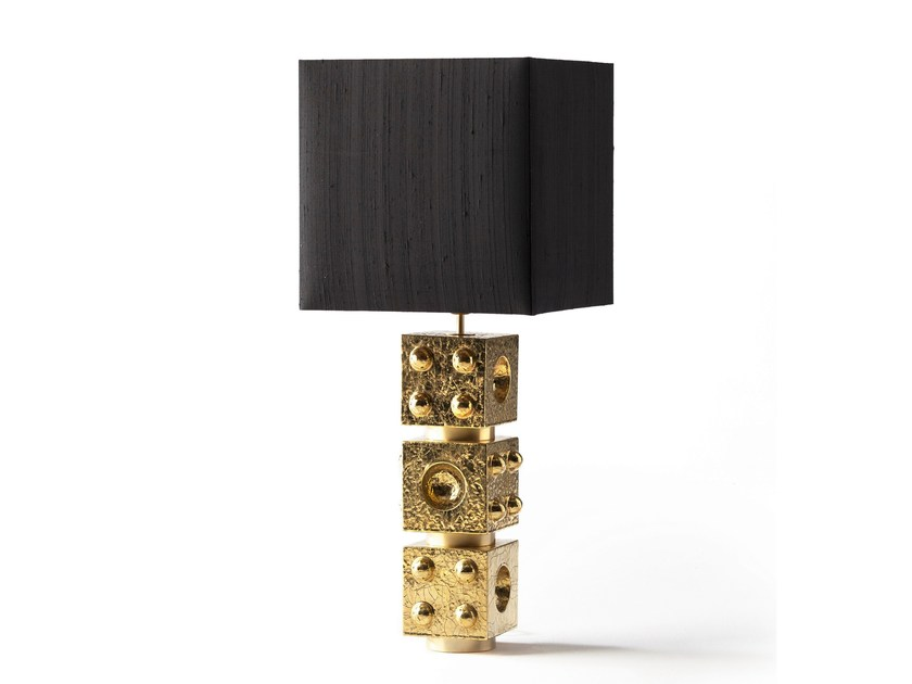 Direct-indirect light ceramic table lamp ADAM | Table lamp by MARIONI