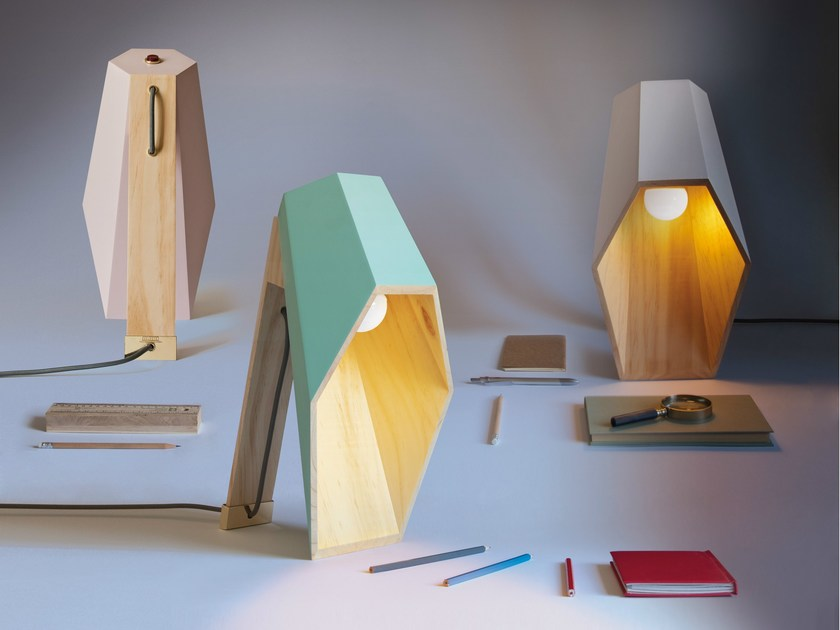 Spruce table lamp WOODSPOT by Seletti
