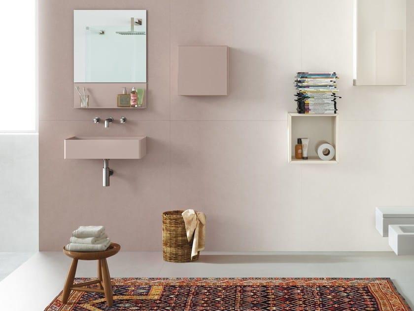 Rectangular wall-mounted washbasin STEEL | Wall-mounted washbasin - Lago