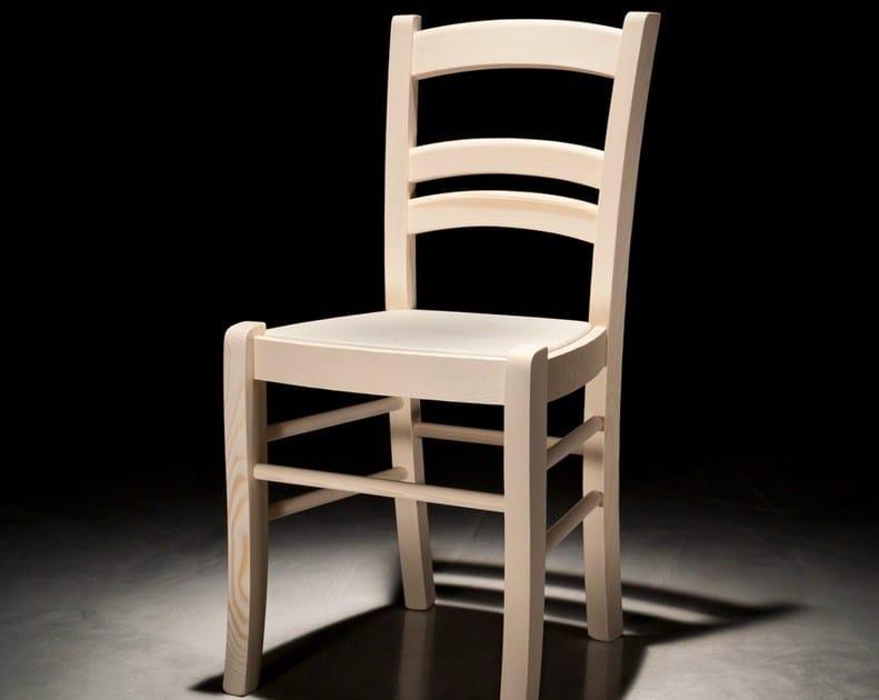 Wooden restaurant chair GIOIOSA by Callesella Arredamenti