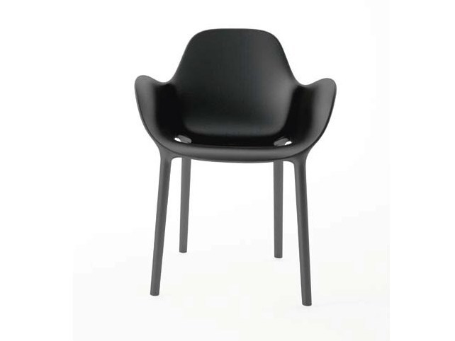 Stackable polypropylene chair with armrests SABINAS | Chair - VONDOM