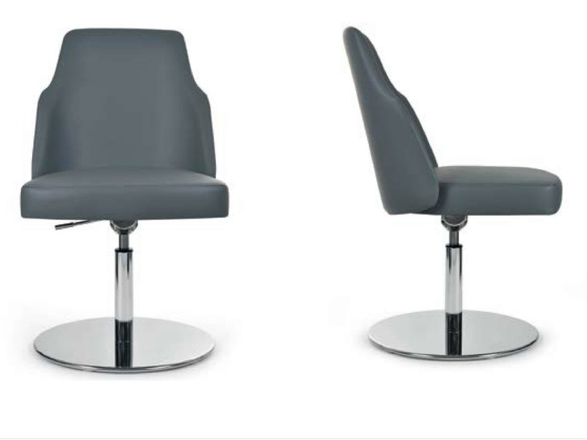 Swivel upholstered height-adjustable chair MIA ROUND | Swivel chair - Riccardo Rivoli Design